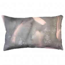 Rose pillow hand painted silk cushion