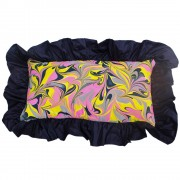 Amalfi Hand Marbled Silk Cushion