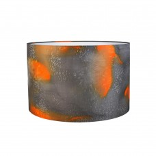 Amber hand painted silk lampshade