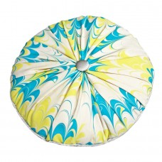 Carnaby Hand Marbled Silk Cushion