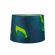 Emerald hand painted silk lampshade