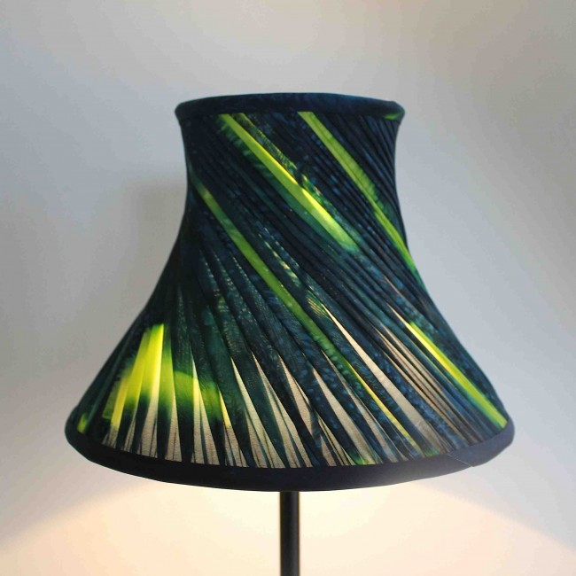 hand painted twisted silk lampshade