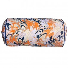 Oaxaca Hand Marbled Silk Bolster Cushion