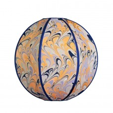 Oaxaca Hand Marbled Onion Silk Lampshade
