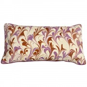 Phoenix Hand Marbled Silk Cushion
