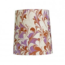 Phoenix Hand Marbled Drum Silk Lampshade