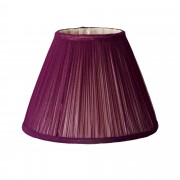 Plum Gathered Chiffon Lampshade