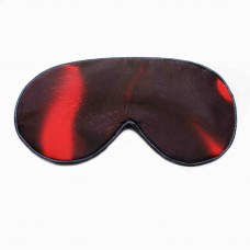 Ruby lavender filled eye mask with velvet ribbon ties