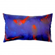 Scarlett pillow hand painted silk cushion