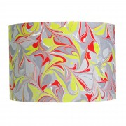 Berlin Hand Marbled Drum Silk Lampshade