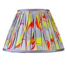 Berlin Hand Marbled Pinch Pleat Silk Lampshade
