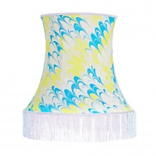Carnaby Hand Marbled Bowed Silk Lampshade