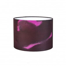 Violet hand painted silk lampshade